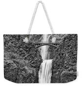 Full View Of Multnomah Falls Weekender Tote Bag