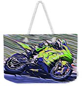 Fullspeed On Two Wheels 8 Weekender Tote Bag