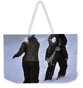 Fun In The Snow Weekender Tote Bag