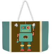 Fun Retro Robot Weekender Tote Bag