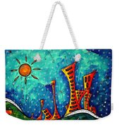 Funky Town Original Madart Painting Weekender Tote Bag