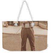 Funny Anchorman On Tv Weekender Tote Bag