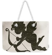 Funny Cupid Art - Vintage Love Quotes Art Typography Weekender Tote Bag