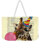 Funny Giraffe, Dictionary Art Weekender Tote Bag