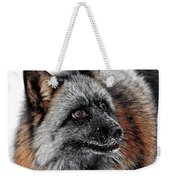 Funny Little Furry Face Weekender Tote Bag