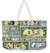 Funny Money Collage Weekender Tote Bag