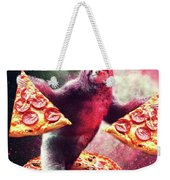 Funny Space Sloth With Pizza Weekender Tote Bag