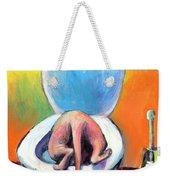 Funny Sphynx Cat Painting Prints Weekender Tote Bag by Svetlana Novikova