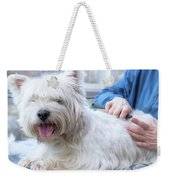 Funny View Of The Trimming Of West Highland White Terrier Dog Weekender Tote Bag