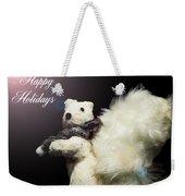 Furry Holiday Weekender Tote Bag