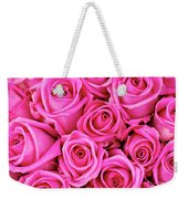Fuschia Colored Roses Weekender Tote Bag