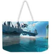 Futuristic Skyway Weekender Tote Bag