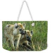 Fuzzy Baby Hyenas Weekender Tote Bag