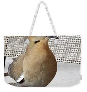 Fuzzy White Wing D Weekender Tote Bag