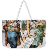 G. Cleveland Cartoon, 1892 Weekender Tote Bag