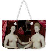 Gabrielle Destrees And Her Sister The Duchess Of Villars Weekender Tote Bag