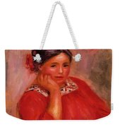 Gabrielle In A Red Blouse 1896 Weekender Tote Bag