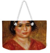 Gabrielle In A Red Blouse 1913 Weekender Tote Bag