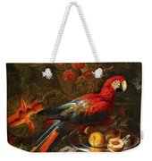 Gabriello Salci  Fruit Still Life With A Parrot Weekender Tote Bag