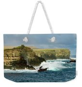 Cliffs At Suarez Point, Espanola Island Of The Galapagos Islands Weekender Tote Bag