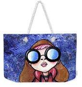 Galaxy Goggles Girl Weekender Tote Bag