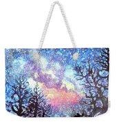 Galaxy Spring Night Watercolor Weekender Tote Bag