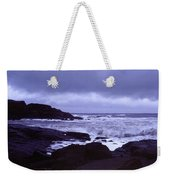 Gale Winds At Nubble Light Weekender Tote Bag
