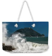Gallinara Island Seastorm - Mareggiata All'isola Gallinara Weekender Tote Bag