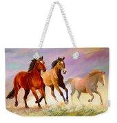 Galloping Horses Weekender Tote Bag