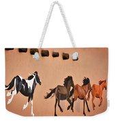 Galloping Horses Mural - Taos Weekender Tote Bag