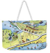 Galveston Texas Cartoon Map Weekender Tote Bag