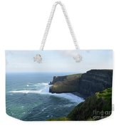 Galway Bay And Towering Cliffs Of Moher In Ireland Weekender Tote Bag