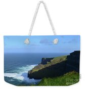 Galway Bay Churning Below The Cliffs Of Moher Weekender Tote Bag