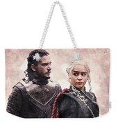 Game Of Thrones. Jon Snow And Daenerys Targaryen Weekender Tote Bag
