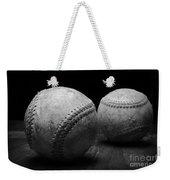 Game Used Baseballs In Black And White Weekender Tote Bag