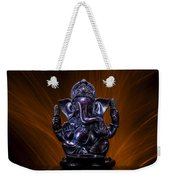 Ganesha With Fire Background Weekender Tote Bag
