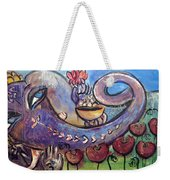 Ganesha With Poppies Weekender Tote Bag