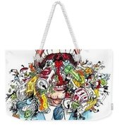 Garbage Mouth Weekender Tote Bag