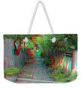 Garden Alley - Use Red-cyan 3d Glasses Weekender Tote Bag