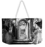 Garden Arches Of Vizcaya - Black And White Weekender Tote Bag