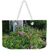 Old Garden Beach Flowers Weekender Tote Bag