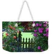 Garden Bench And Trellis Weekender Tote Bag