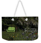 Garden Bench Green Weekender Tote Bag