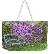 Garden Bench Weekender Tote Bag