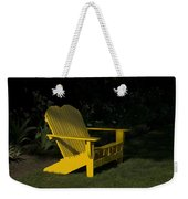 Garden Bench Yellow Weekender Tote Bag