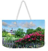 Garden Fence And Roses Weekender Tote Bag