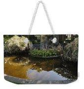 Garden Fountain Pond Weekender Tote Bag