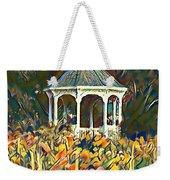 Garden Gazebo Watercolor Weekender Tote Bag