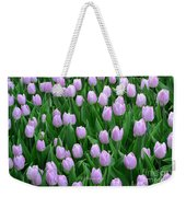 Garden Of Pink Tulips Weekender Tote Bag