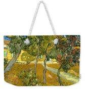 Garden Of Saint Paul's Hospital Weekender Tote Bag by Vincent van Gogh